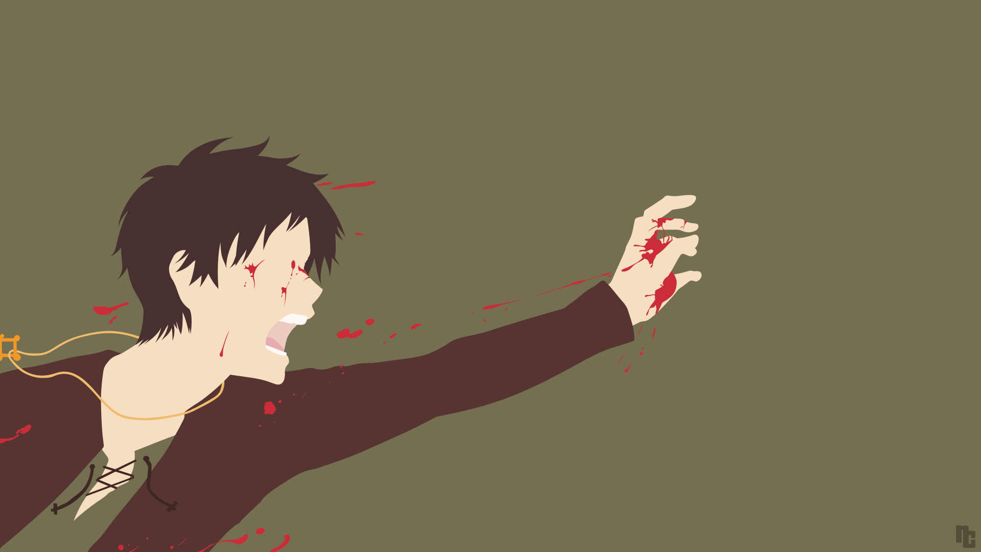 Attack On Titan Eren Yeager Minimalist Wallpaper