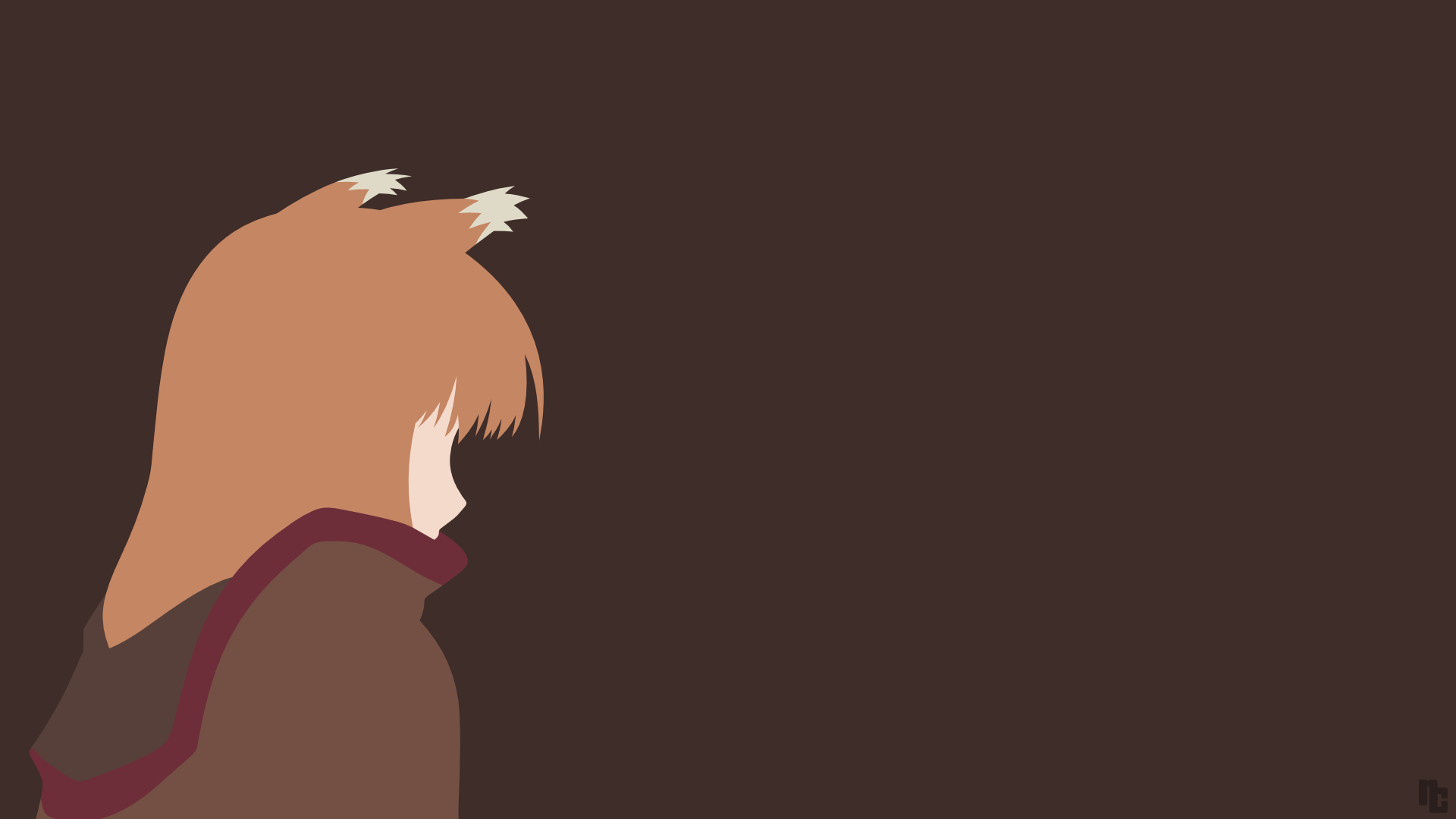 Spice And Wolf Holo Minimalist Wallpaper