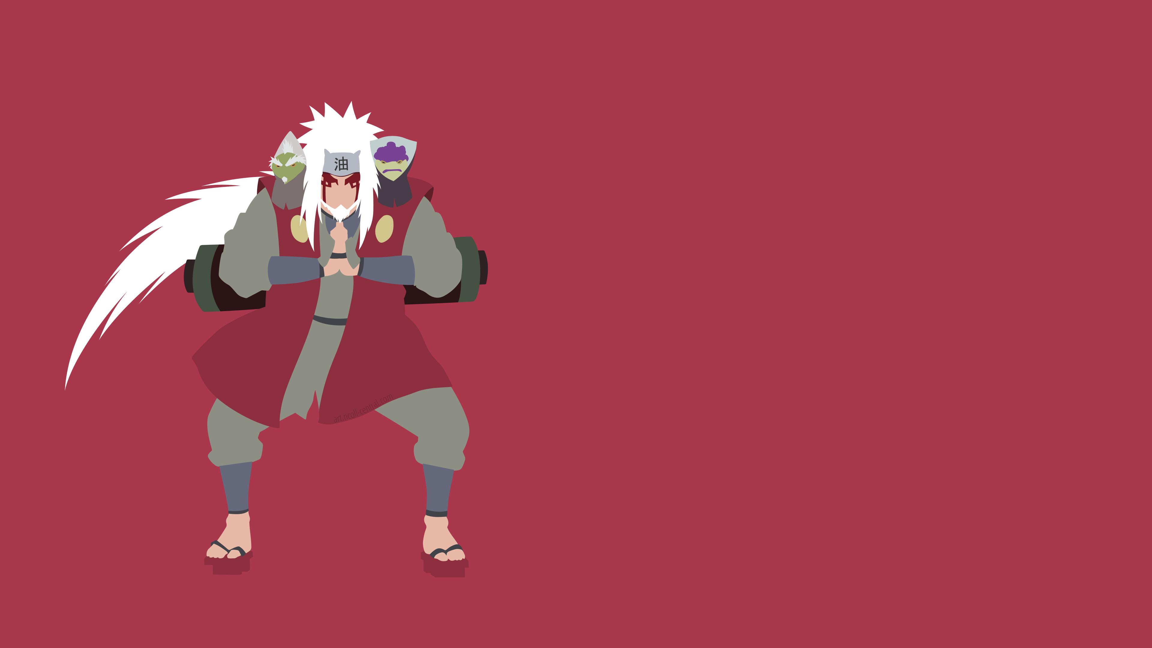 Naruto Jiraiya Minimalist Wallpaper