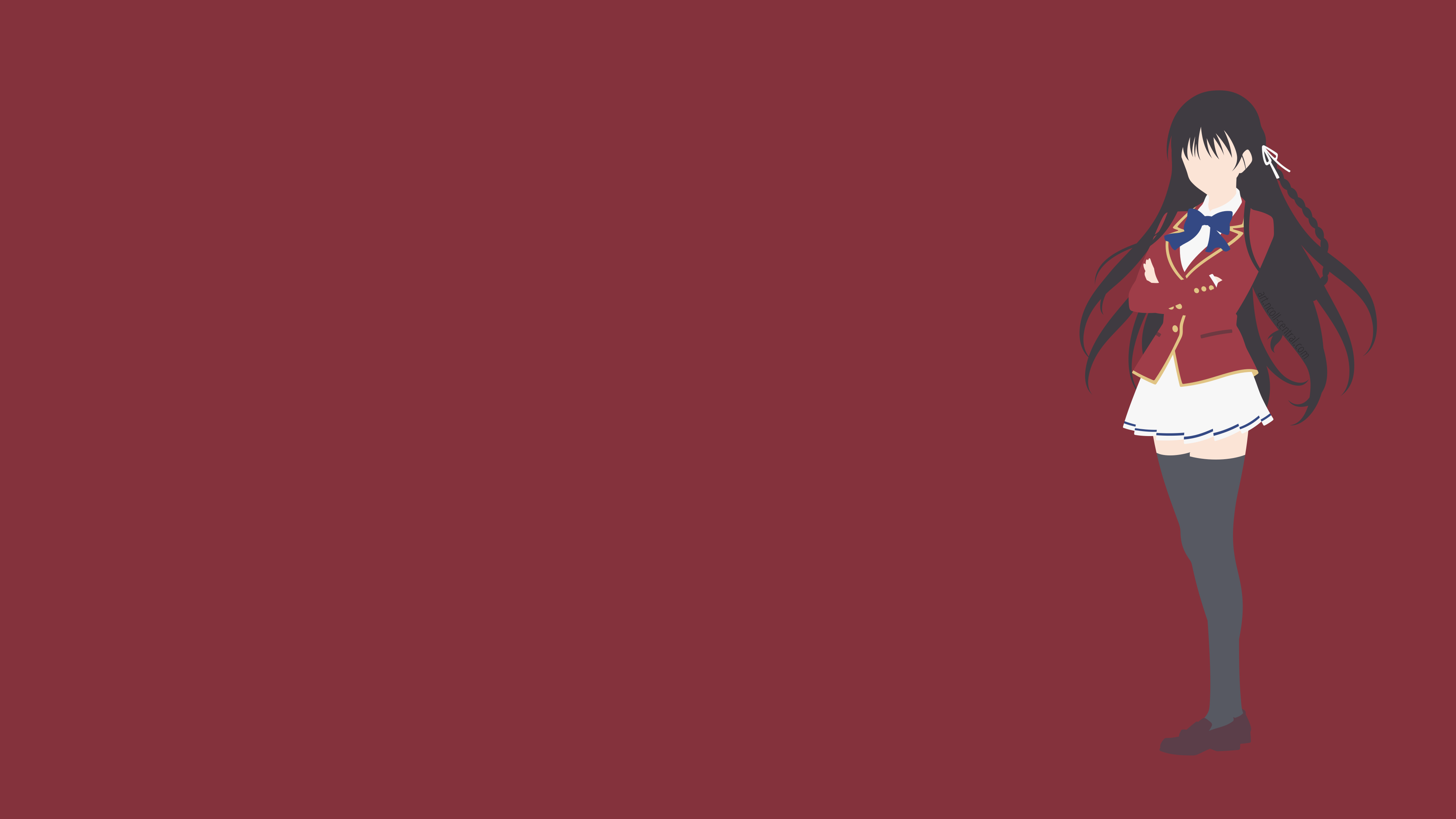 Classroom Of The Elite Suzune Horikita Minimalist Wallpaper