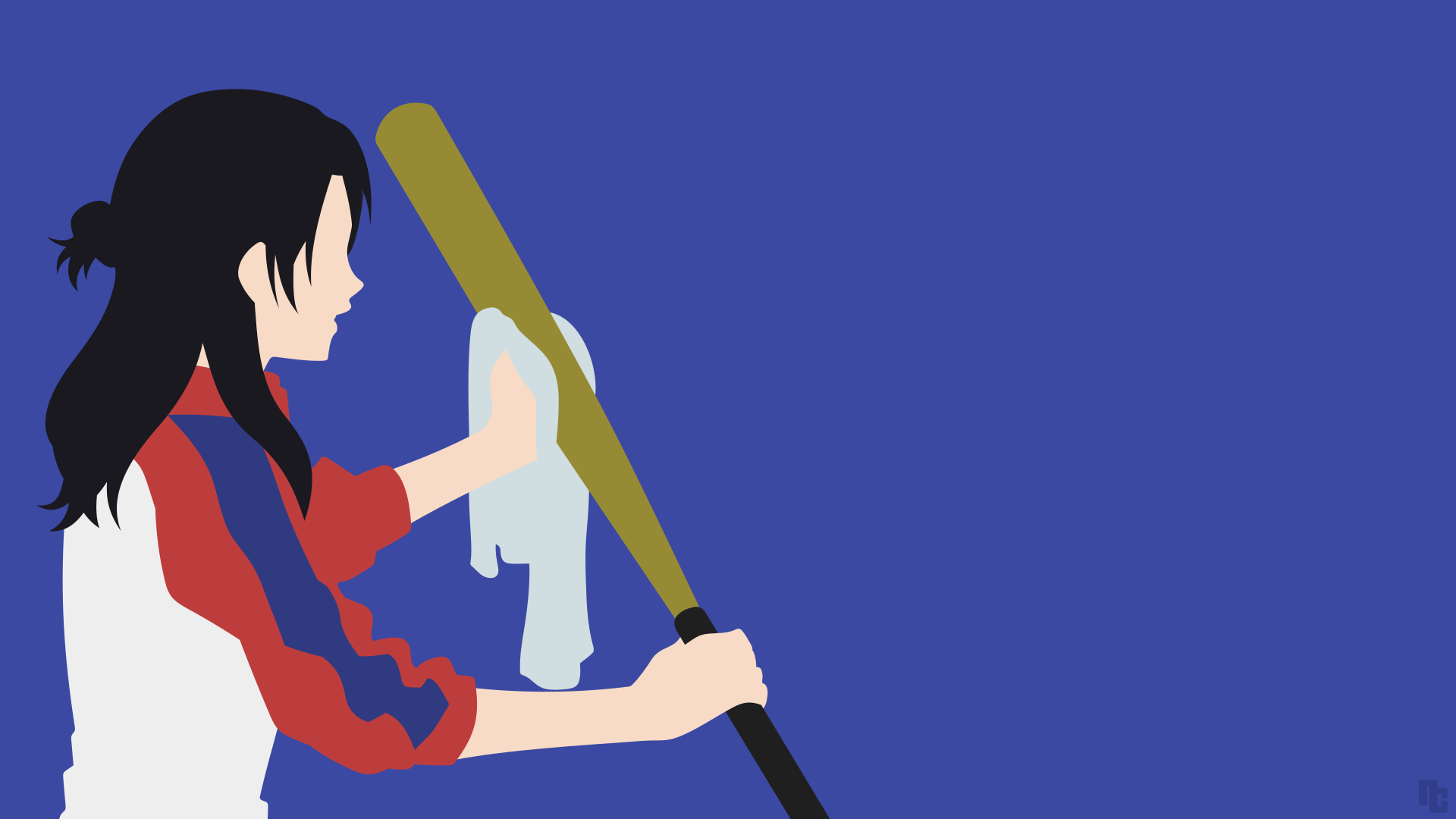 Ace Of Diamond Takako Fujiwara Minimalist Wallpaper